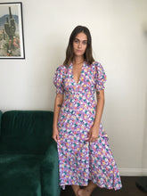 Load image into Gallery viewer, Marie-Louise Midi Dress Nefeli Floral