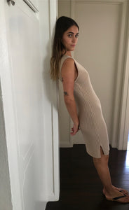 Gia Knit Dress in Sand