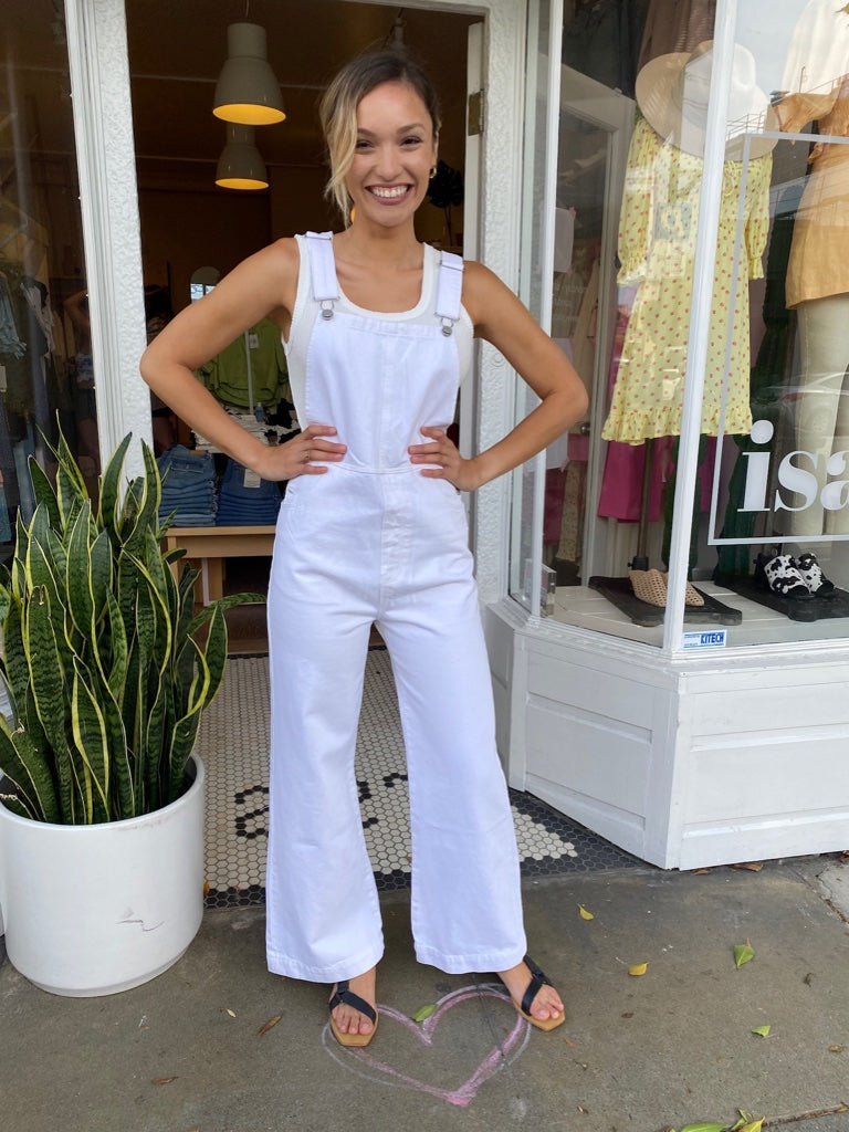 Old Mate Overall in Vintage White