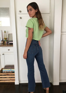 Olena Linen Top in Green