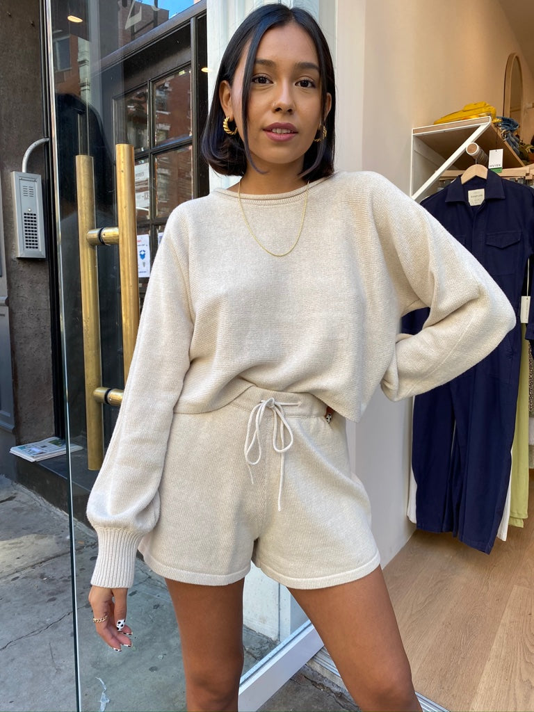 Nicole Two Piece Sweater Set in Oatmeal