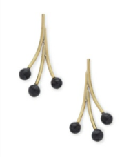 Spring Drop Earrings Black