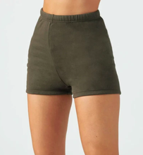 Load image into Gallery viewer, Fitted Sweat Short in Army French Terry