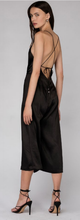 Load image into Gallery viewer, Say Bias Slip Dress Black