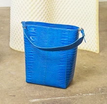 Load image into Gallery viewer, Casset Croco Bag in Klein Blue