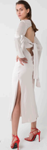 Load image into Gallery viewer, Tie Back Bias Maxi Dress Pearl