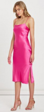 Load image into Gallery viewer, Nina Slip Midi Dress Barbie Pink