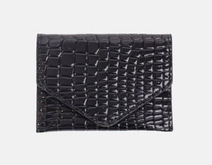 Croco Wallet in Black