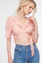 Load image into Gallery viewer, Lexi Ruffle Wrap Top, Camellia