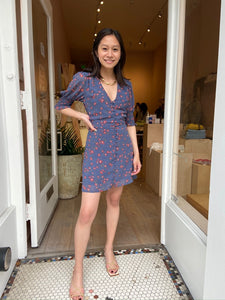 Lilith Blue Floral Dress
