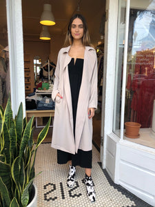 Tazi Flowy Trench Coat