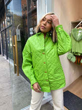 Load image into Gallery viewer, Mid Century Quilted Jacket in Palm Green