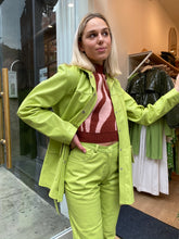Load image into Gallery viewer, Lili Leather Jacket in Light Green