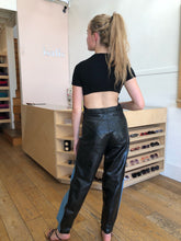 Load image into Gallery viewer, Orion Pant in Denim & Patent Leather