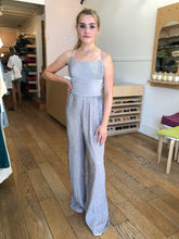 Load image into Gallery viewer, Ripple Pleat Jumpsuit in Silver
