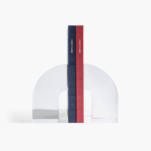 Lucite Arc Bookend
