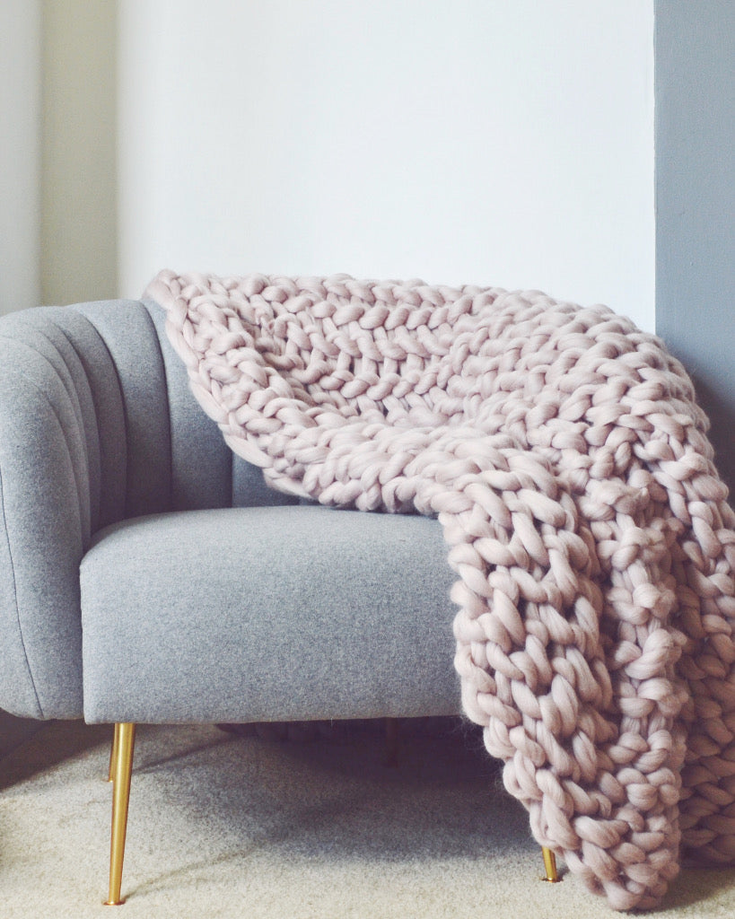 The Extra Large Handmade Chunky Knit Blanket Pomme Pomme