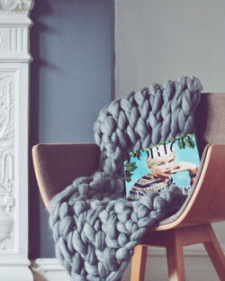 The Medium Handmade Chunky Knit Blanket