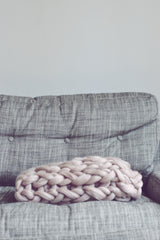 The Small Handmade Chunky Knit Blanket - Made to order
