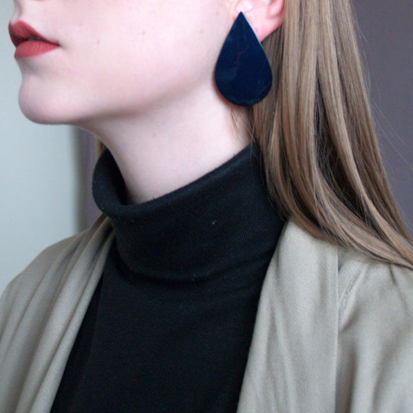 Oversized Teardrop Earrings