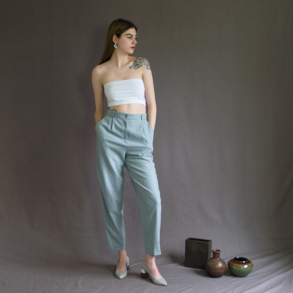 Pale Blue High Waist Pants