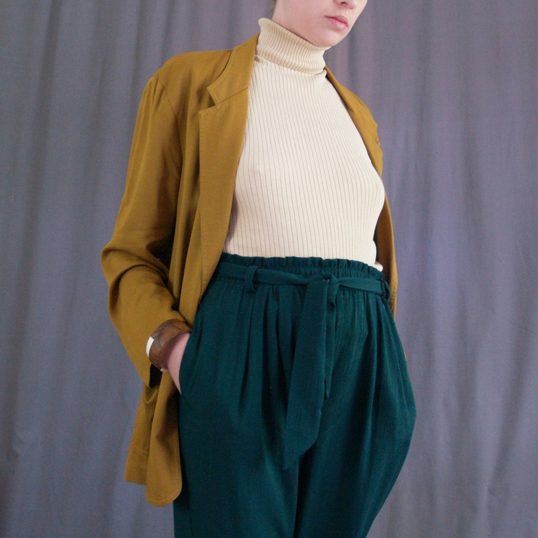 Emerald High Waist Trousers