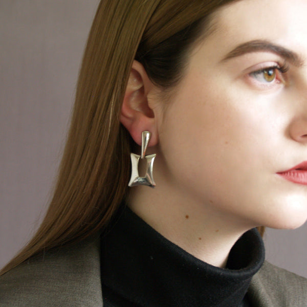 Rectangular Door-Knocker Earrings
