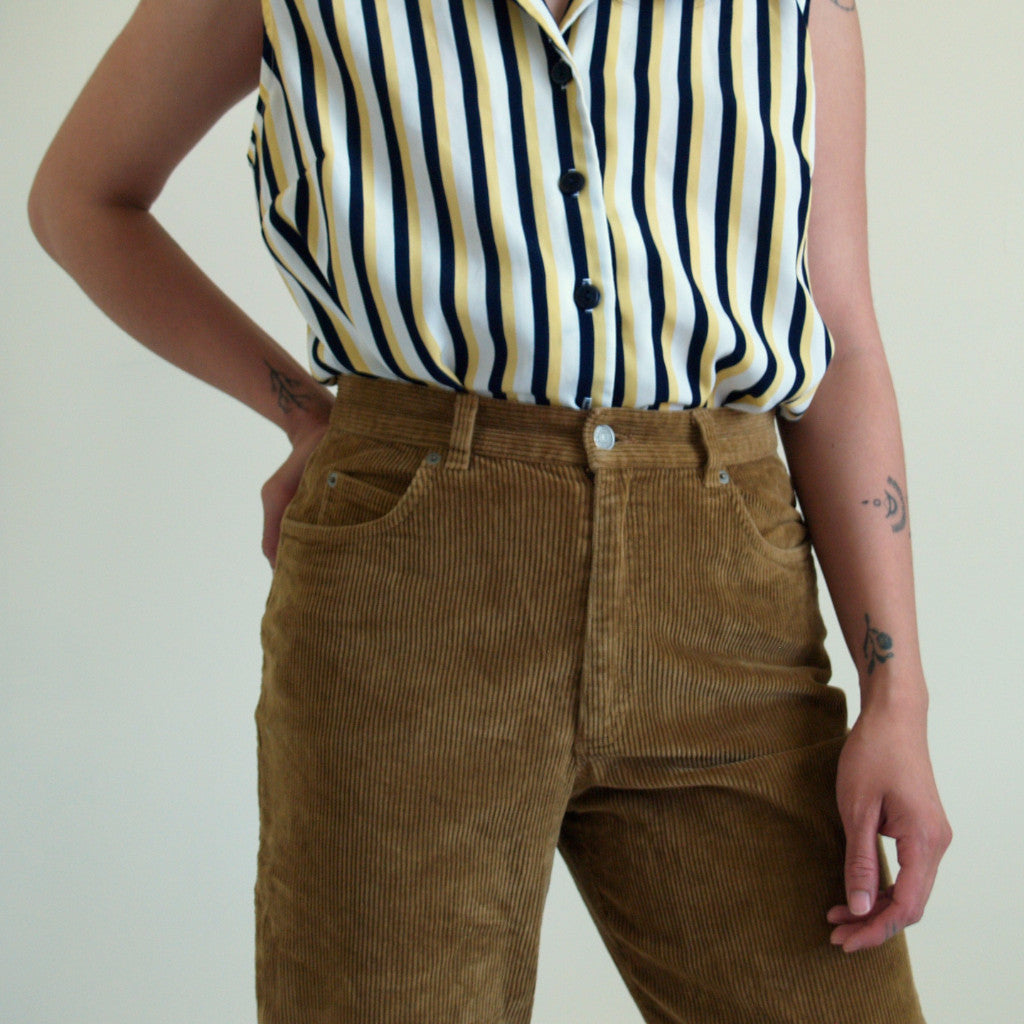 Striped Sleeveless Blouse