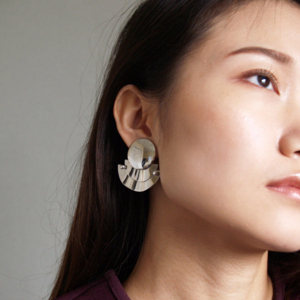 Silver Sculptural Earrings