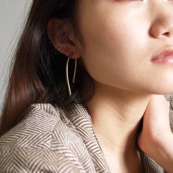 Gold Double Bar Earrings