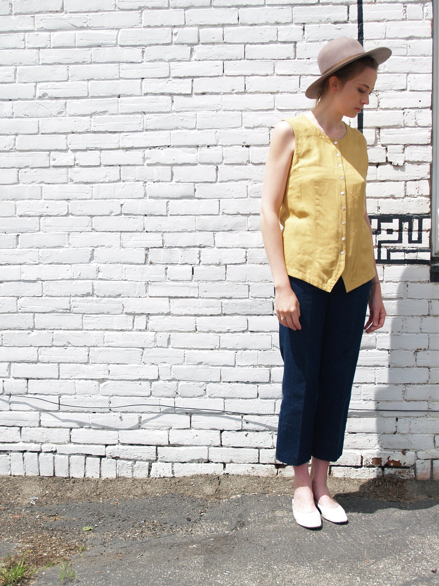 Mustard Sleeveless Blouse