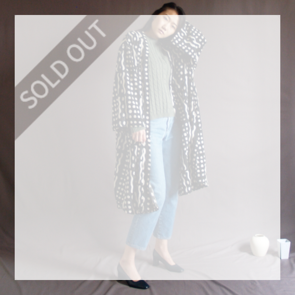 Patterned Duster Coat