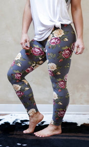 Floral Fall Leggings