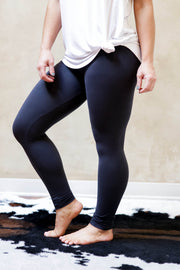 Basic Leggings-Charcoal