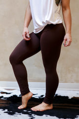 Basic Leggings Brown