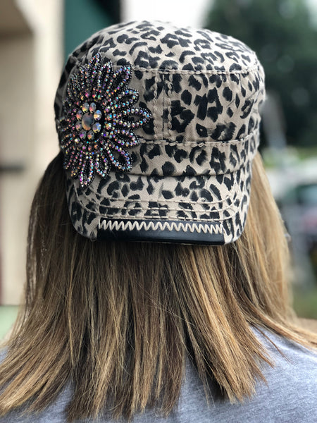 Leopard with Bling Hat