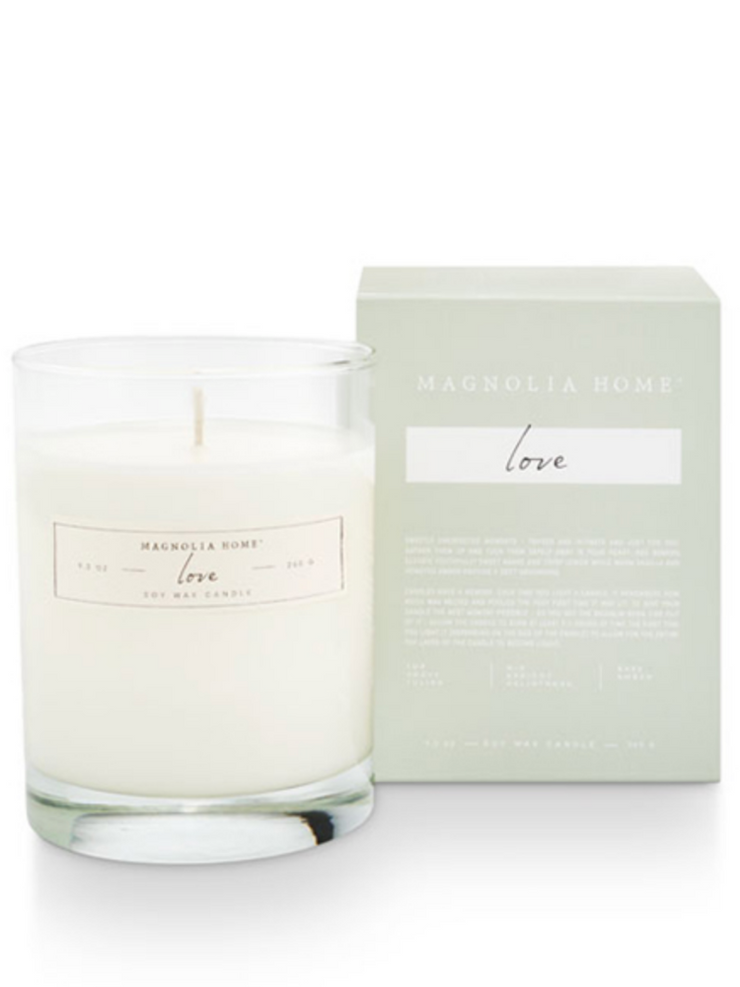 Boxed Glass Candle- Love