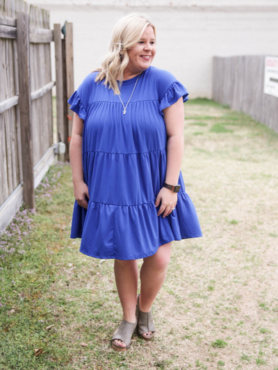 The Madalynn Dress - Royal Blue