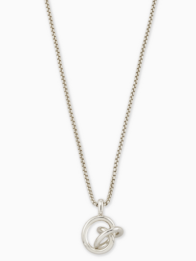Kendra Scott- Presleigh Long Pendent Bright Silver Metal