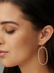 Kendra Scott: Danielle : open frame Rose Gold Metal White Rhinestone
