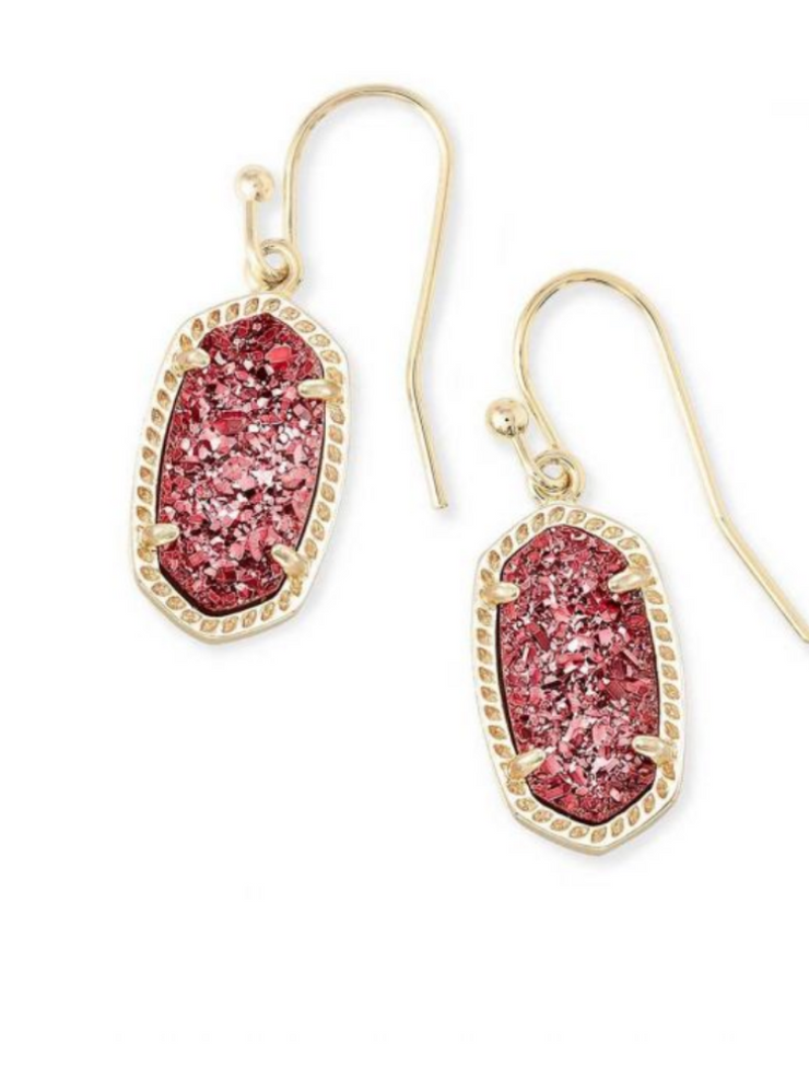 Kendra Scott: Lee Earring: Gold Raspberry Drusy
