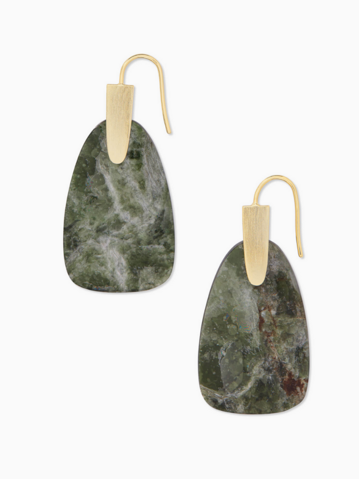 Kendra Scott: Marty Earring-Gold/Sage Mica