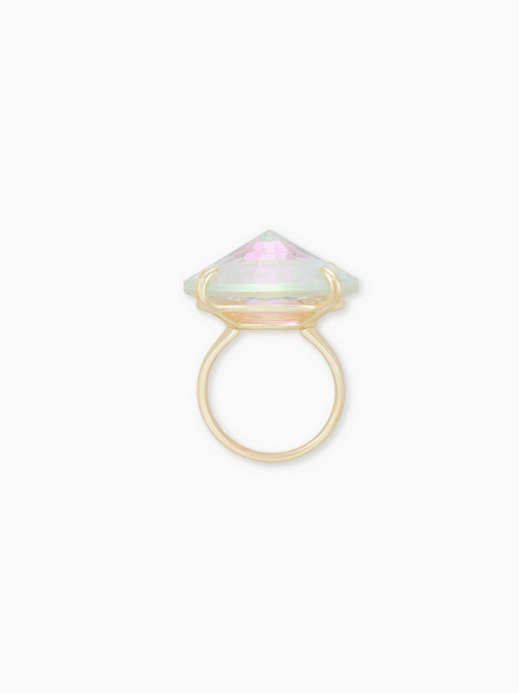 Kendra Scott: Jolie Cocktail Ring: Gold Dichroic Glass