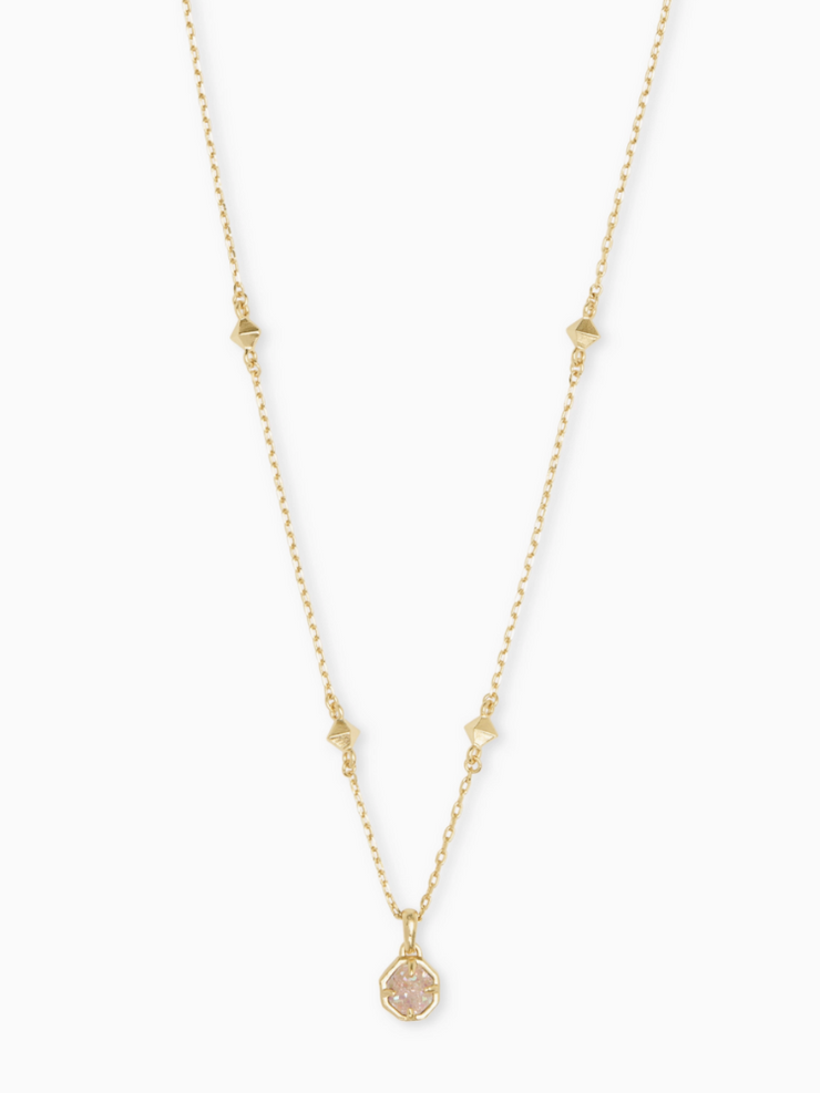 Kendra Scott: Nola Short Necklace: Gold Iridscnt Drusty