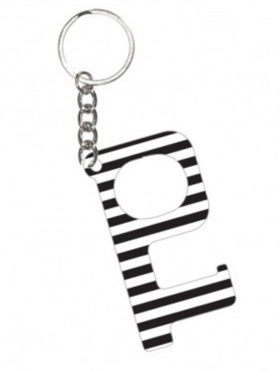 Hands Free KeyChain- Black Stripe