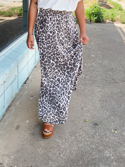 The Lilly Maxi Skirt-Leopard