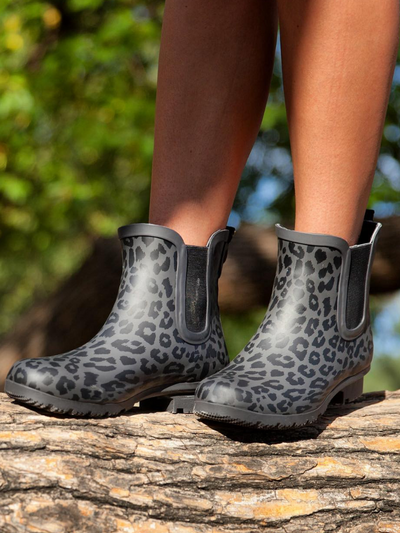The Chelsea Roma Boot-Matte Grey Leopard
