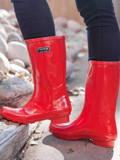 The Emma Boot-Red