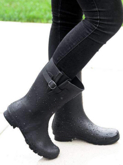 The Welly Roma Boot-Black