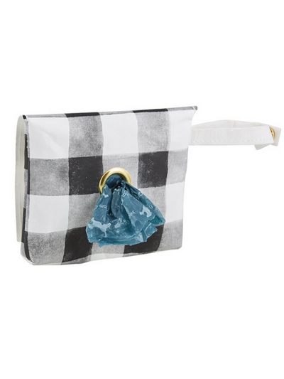 Washable Paper Waste Pouch - Black Buffalo Check